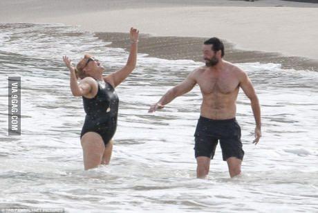 Hugh Jackman 47 With His Wife Deborra Lee Furness 60 Hugh Jackman Hugh Jackman Wife Hugh Jackman Shirtless