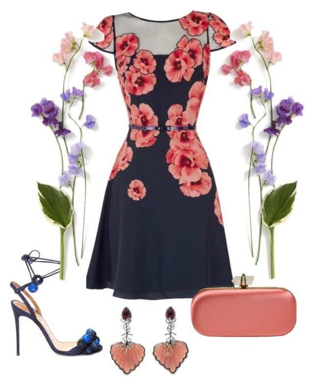 """""""Outfit # 3503"""" by miriam83 ❤ liked on Polyvore featuring Coast, Aquazzura, Marchesa and Wendy Yue"""