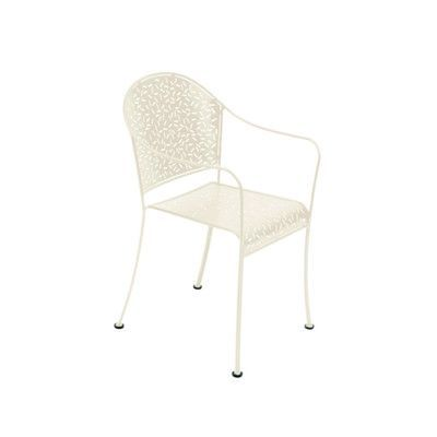 Fermob Rendezvous Stacking Dining Arm Chair Finish: Linen