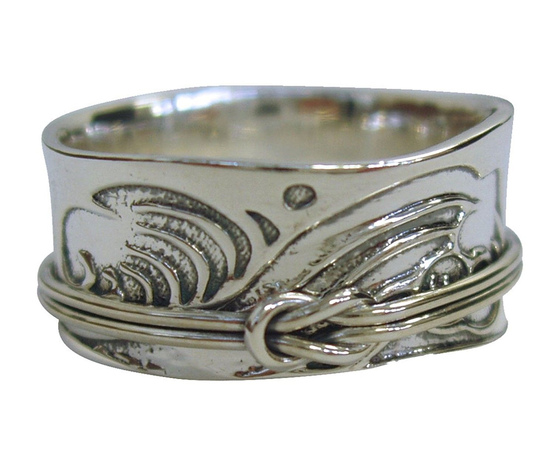 01bdb2efa4821 TSUNAMI ART Japanese Arts Inspired Meditation Spinner Ring in ...