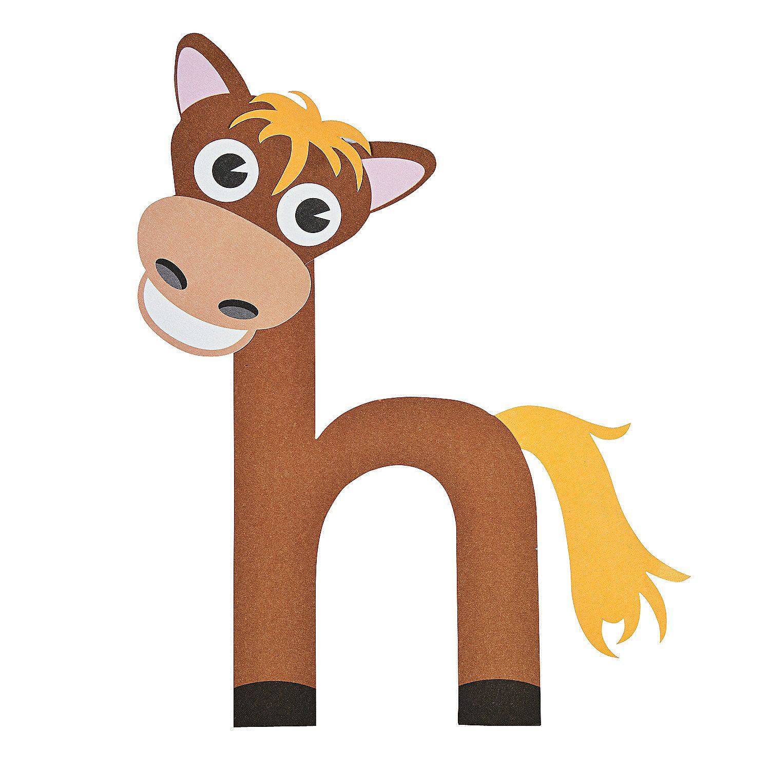 Lowercase H Is For Horse Craft Kit