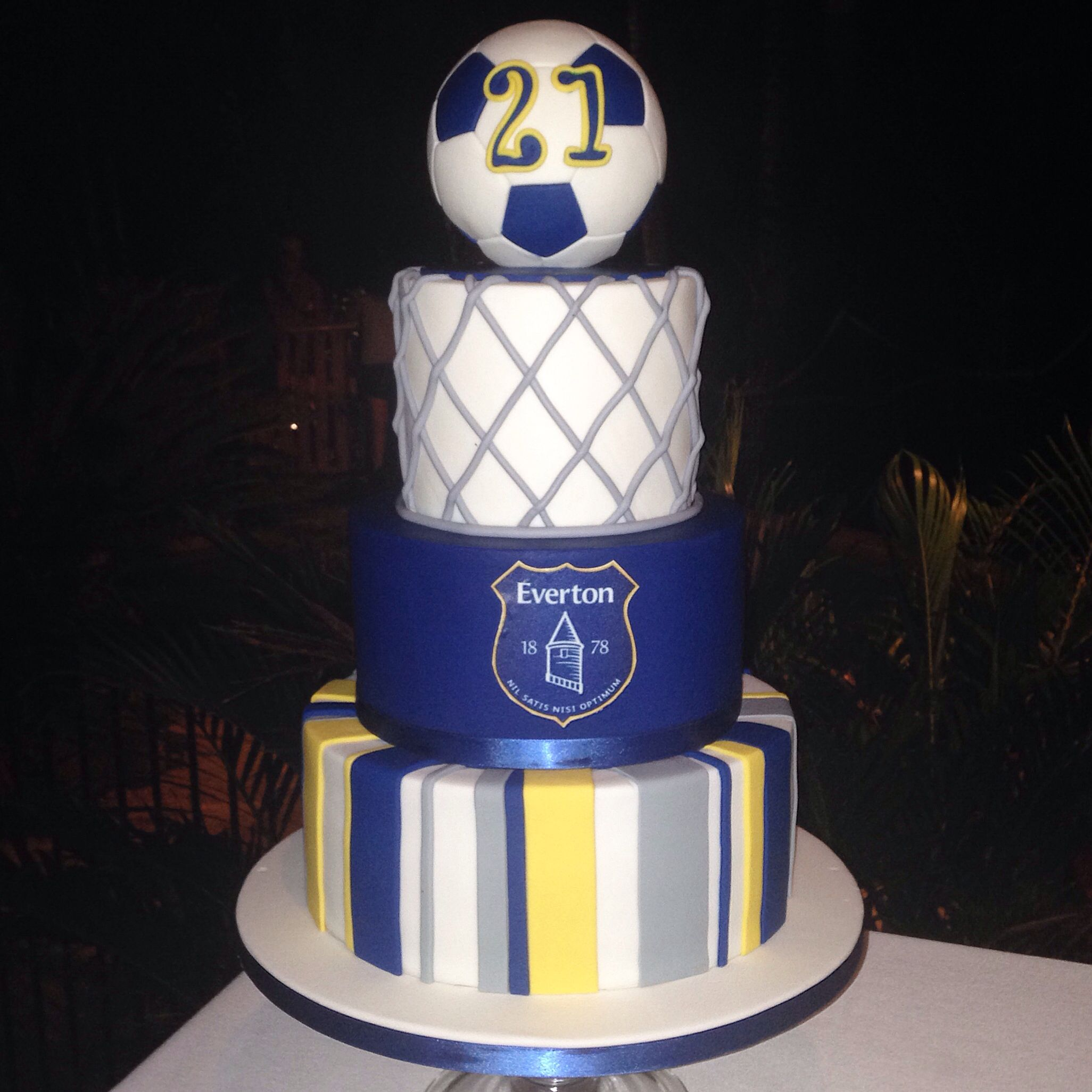 Birthday cake for mad Everton Football Club supporter To view