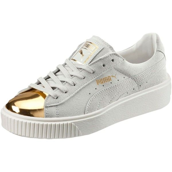 Puma Suede Platform Gold Women s Sneakers ( 100) ❤ liked on Polyvore  featuring shoes 16a9dda06