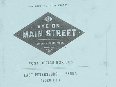 Eye On Main Street Envelope Envelope Design Main Street Envelope