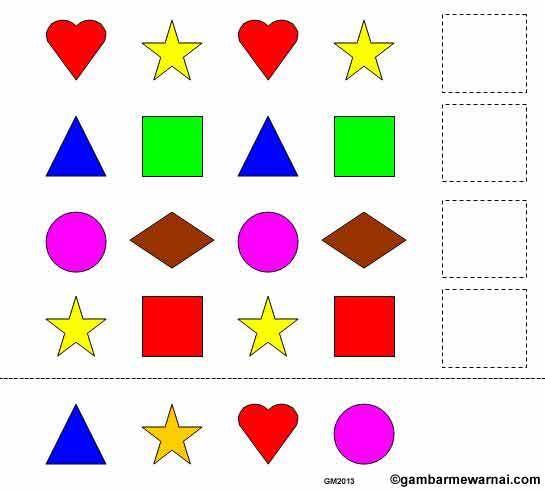 Lembar Kerja Anak Belajar Identifikasi Objek Dengan Gambar