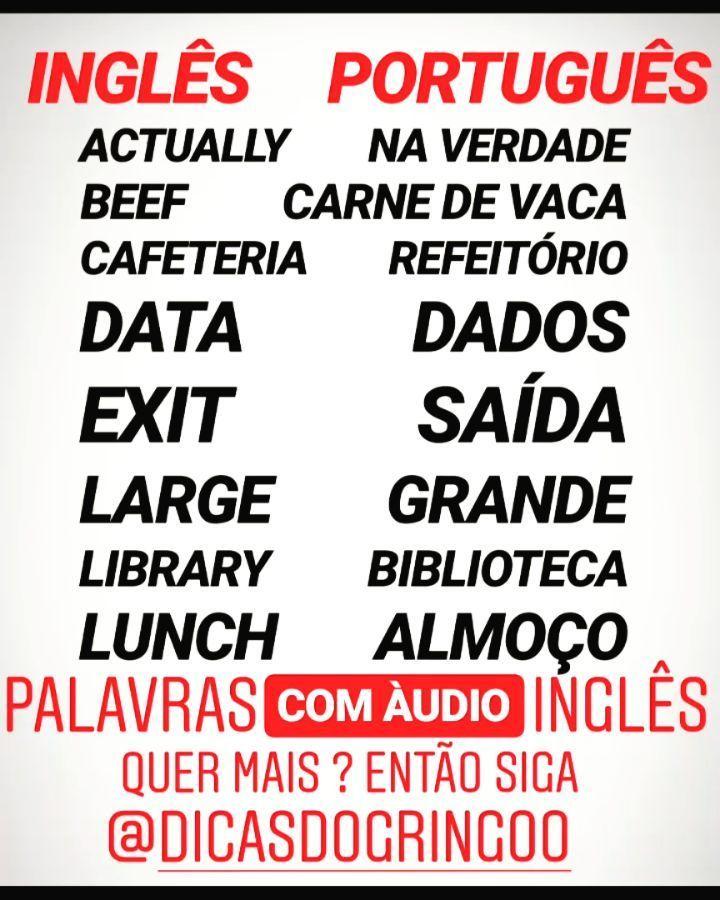 Pin De Marina Em Ingles E Expressoes Idiomaticas Em 2020