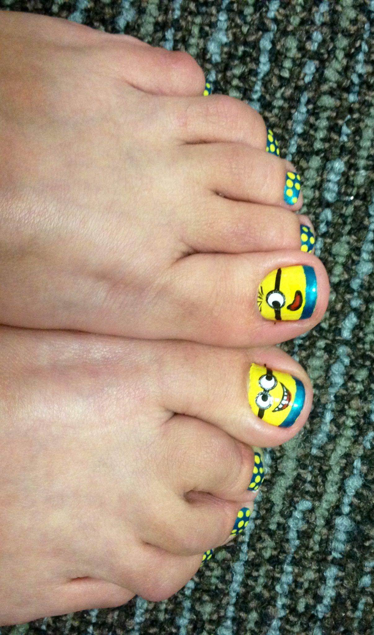 Despicable Me/Minion pedicure | Nails | Pinterest | Pedicures, Toe ...