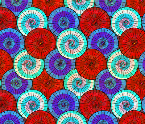 Tissue Parasols fabric by elramsay on Spoonflower - custom fabric