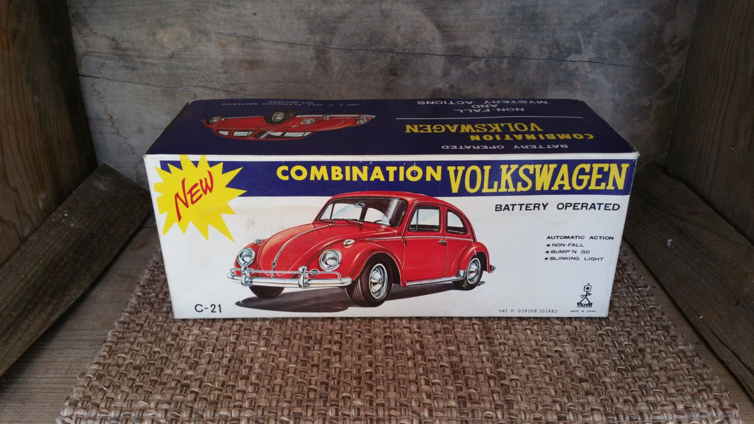 Taiyo Toy Combination Volkswagen Battery Operated Tin An Vw Beetle Bug By Treasurehunterco On Etsy