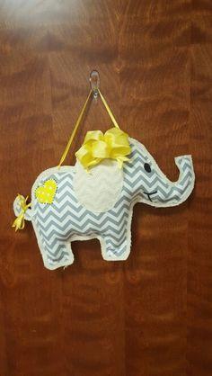 Elephant chevron yellow