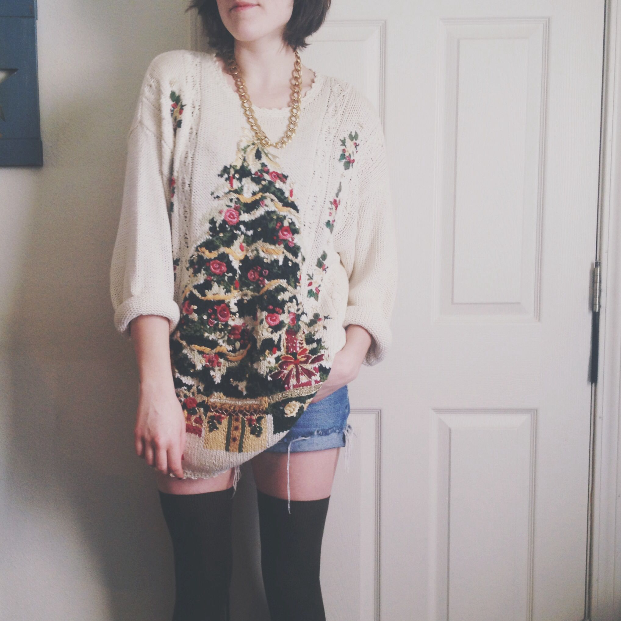 Christmas sweater perfection.