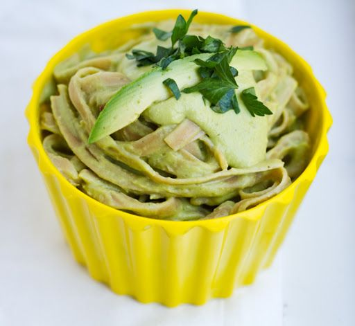 Basil Verde Potato Alfredo made Green with Avocado #holidayavocado @Amazing Avocado