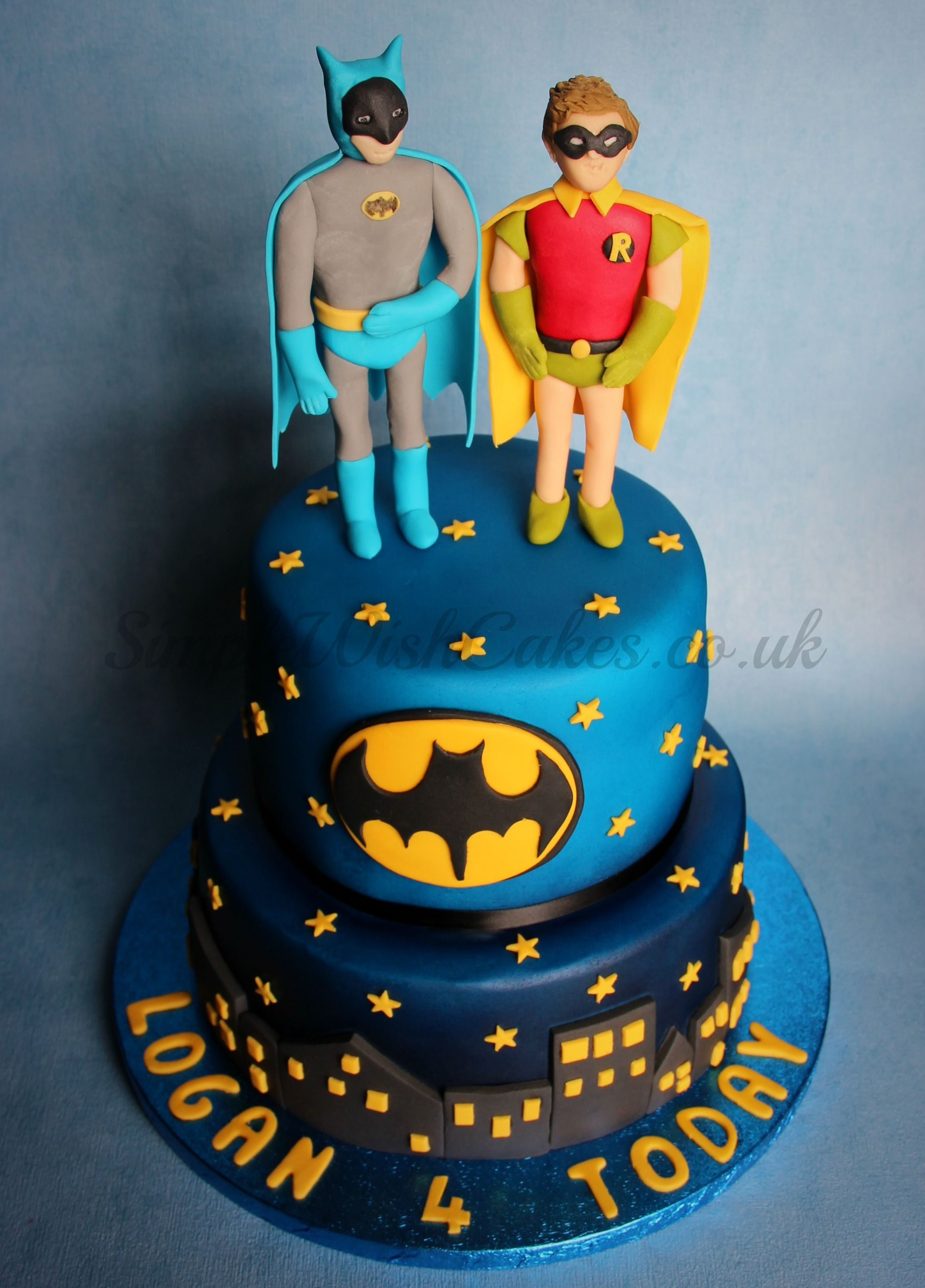 Batman And Robin Two Tier Cake Httpsfacebook