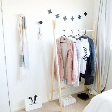 7 portants vêtement à faire soi-même avec 3 fois rien | Dressing ...