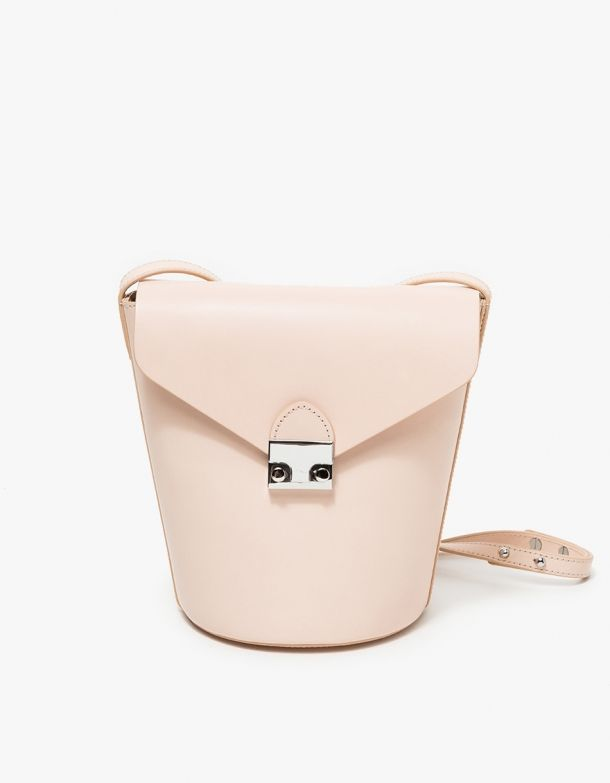 Flap Bucket Bag in Sand