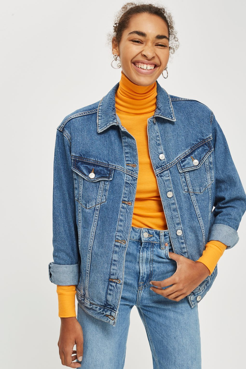 MOTO Oversized Denim Jacket in 2020 (With images