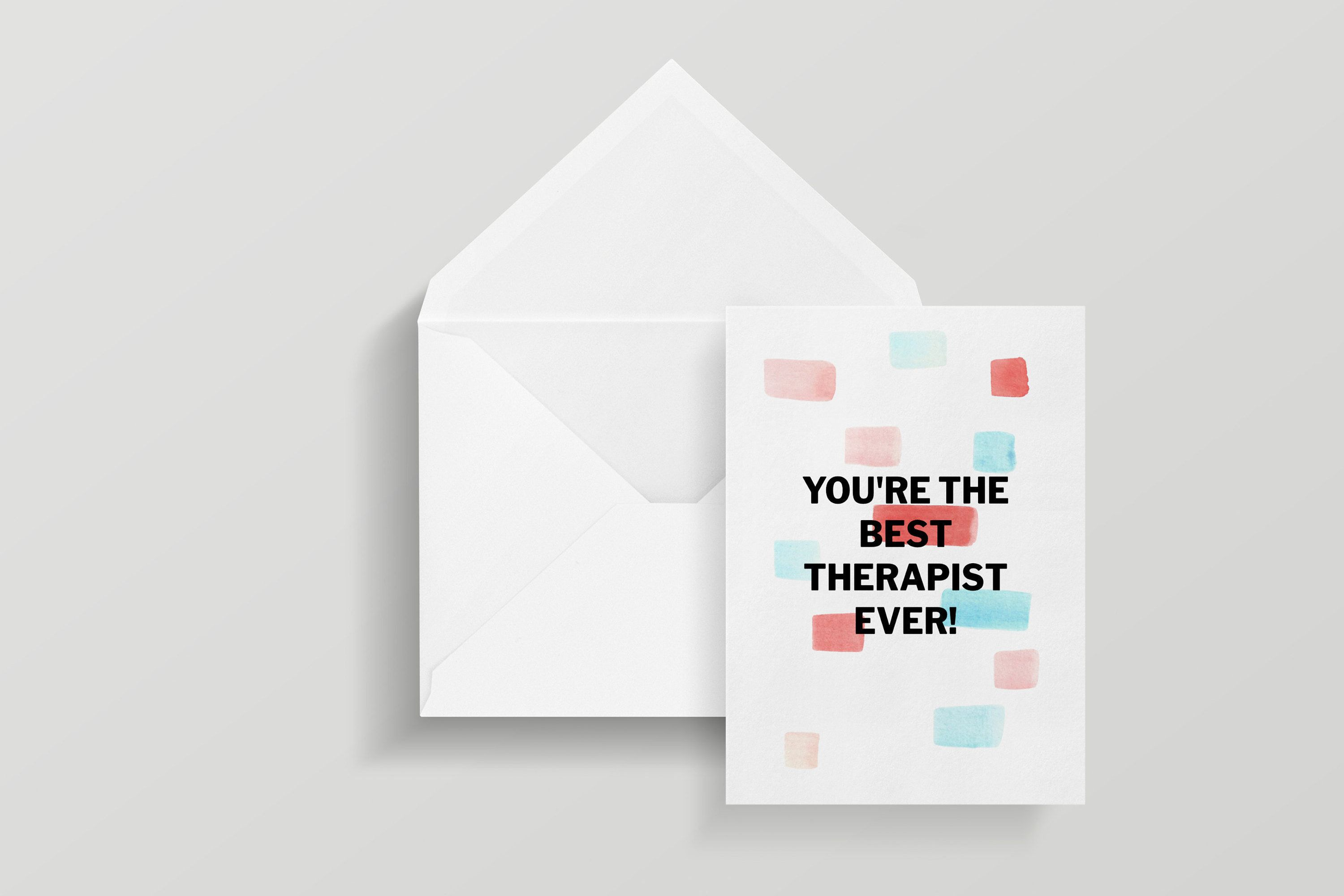 35 Best Therapist Ever Greeting Card With Envelope   Etsy   Greeting ...