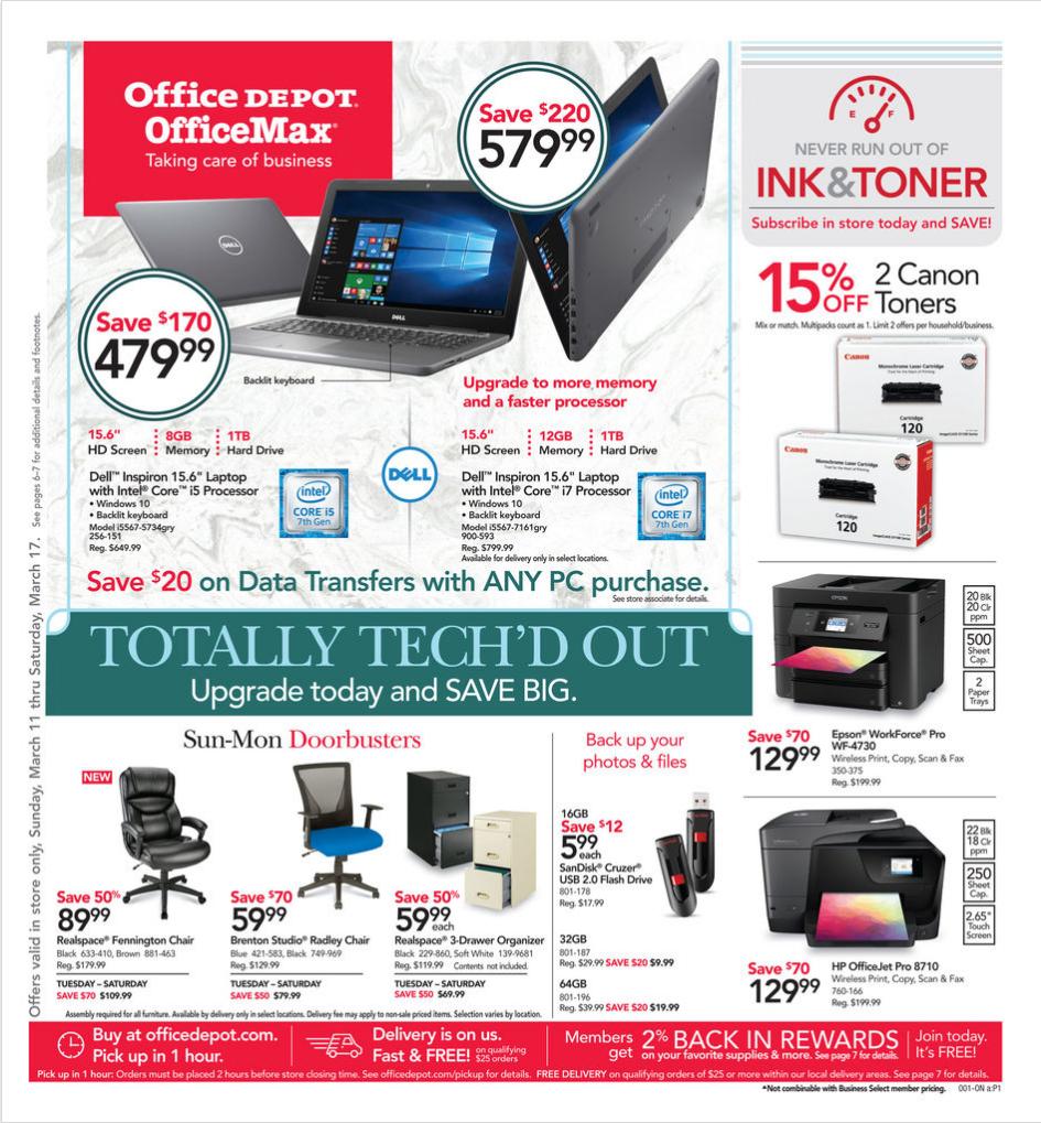 Pleasing Office Depot Weekly Ad Officemax Ad July 7 13 2019 Inzonedesignstudio Interior Chair Design Inzonedesignstudiocom