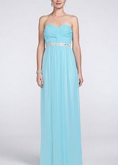 Strapless Prom Dress with Ruched Bust and Beading Style 8420DW3B ...