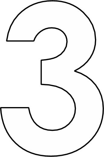 getal 3 kleurplaten patronen en sjablonen