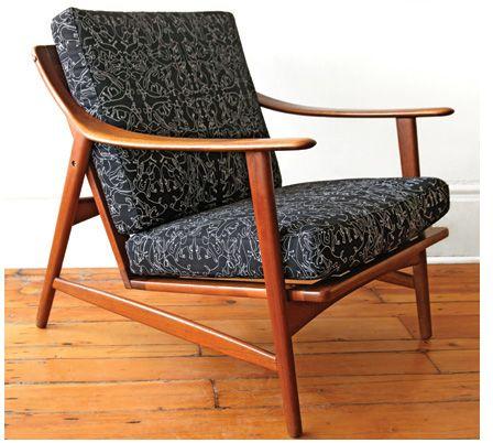 nice lines on this teak armchair