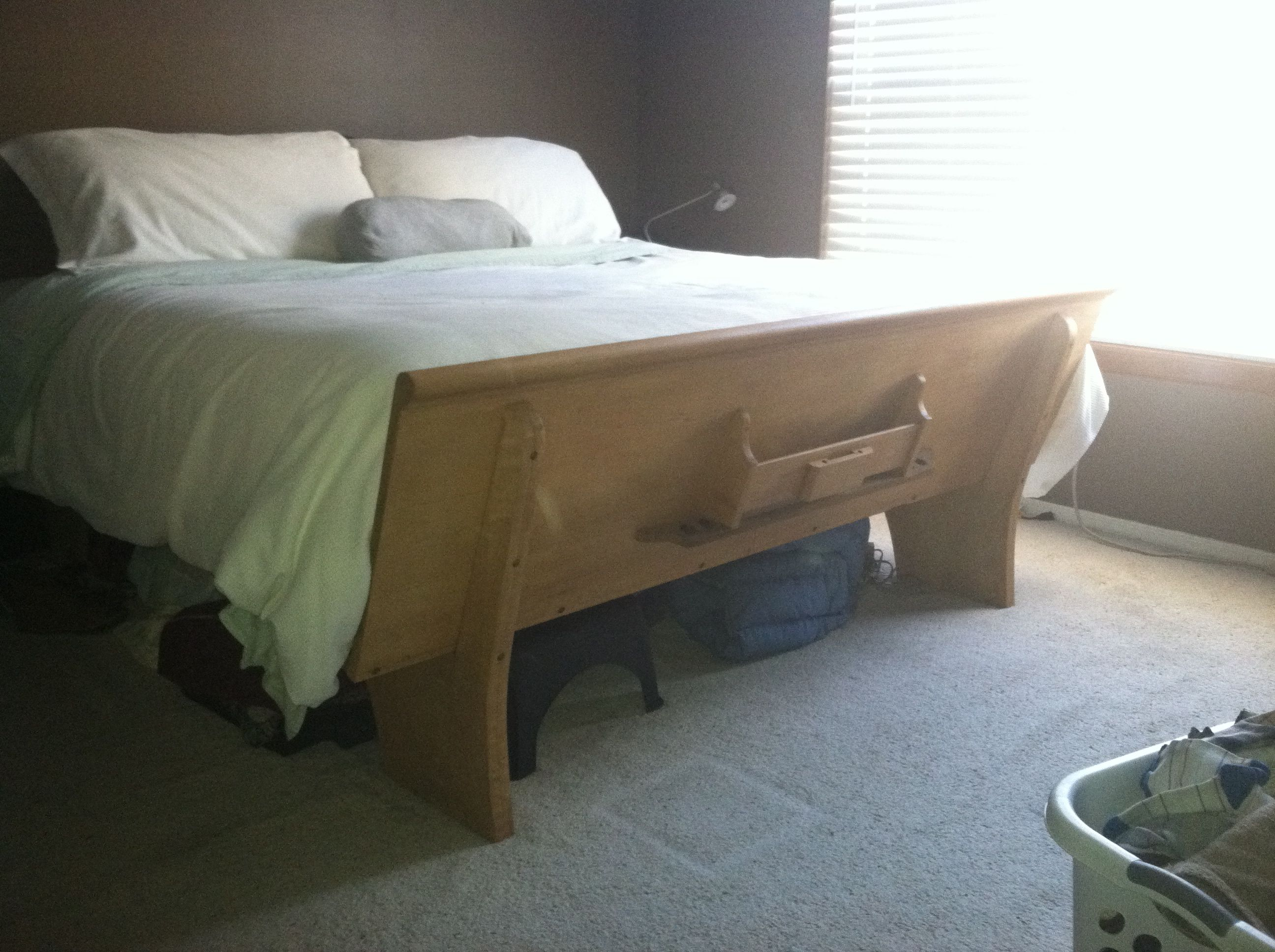 Bed Made From A Church Pew