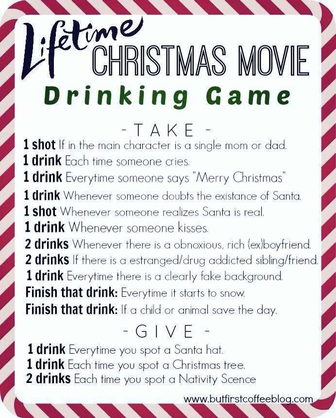 Pin By Heather Tucker On Christmas Movie Drinking Games Christmas Drinking Games Christmas Drinking