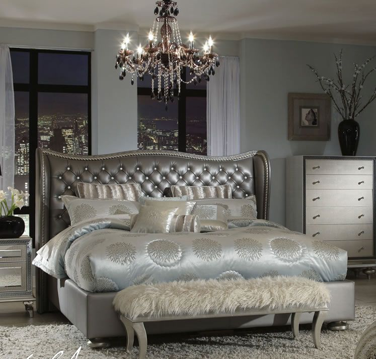 Hollywood Swank Bedding. Michael Amini New At Andrews Furniture.  Www.andrewsfurniture.net