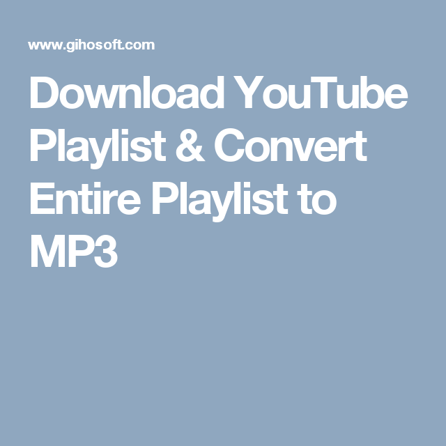 convert youtube playlist to mp3 online free
