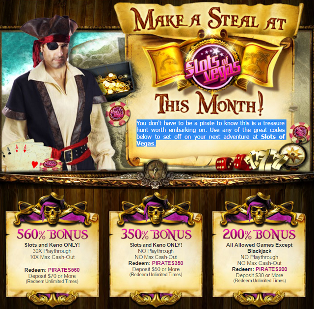 Slots of Vegas Casino Monthly Match Bonus Offers Vegas