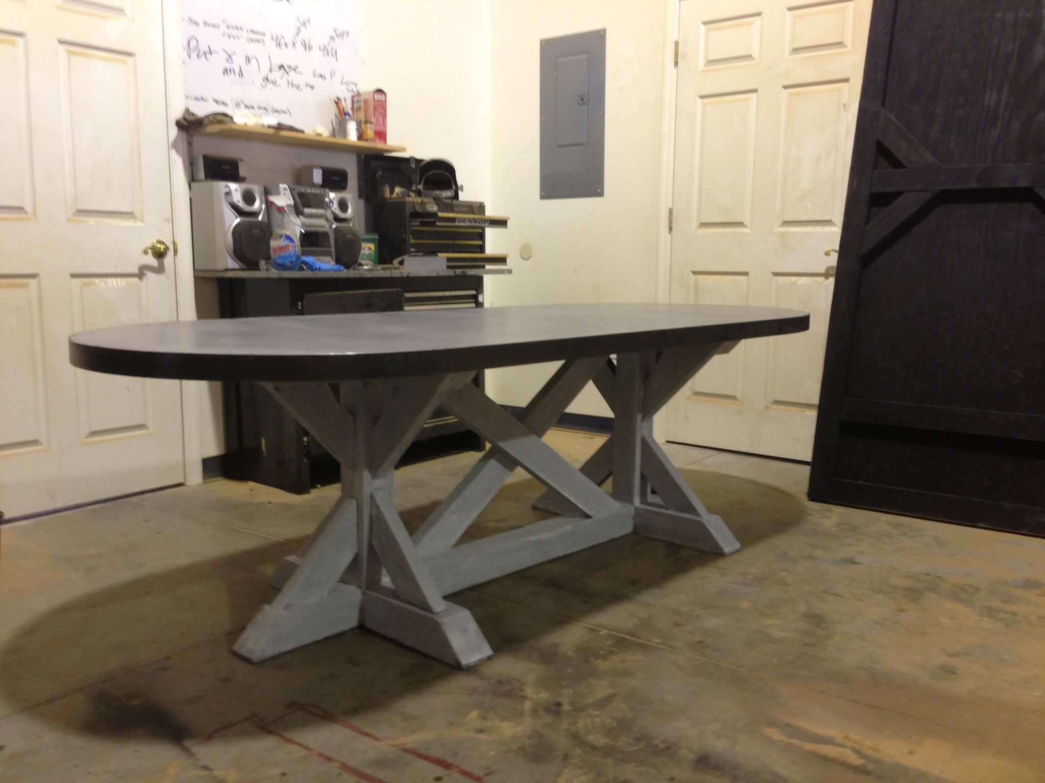Zinc table from SDS Designs | Mom and Dad's Board | Zinc ...