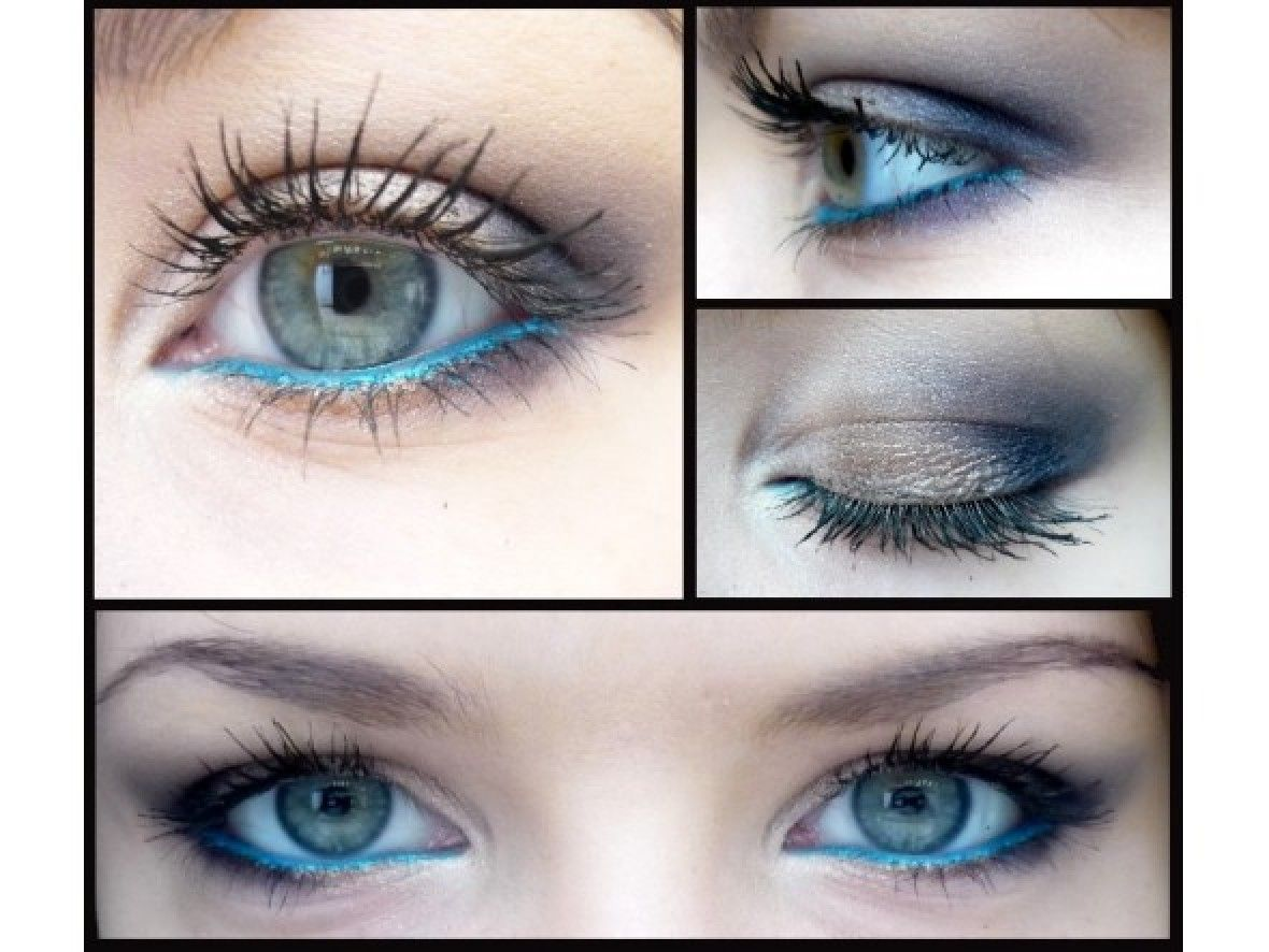maquillage yeux en bleu make up pinterest maquillage yeux yeux et maquillage. Black Bedroom Furniture Sets. Home Design Ideas