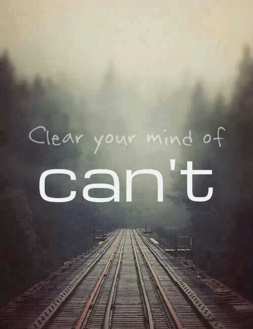 Turn your can´t into cans and your dreams into plans. So you can do what is #right, not what is easy. #Fight for that what you really want to do and what makes you feel good. The first step for that is to clear your mind of can´t !<3