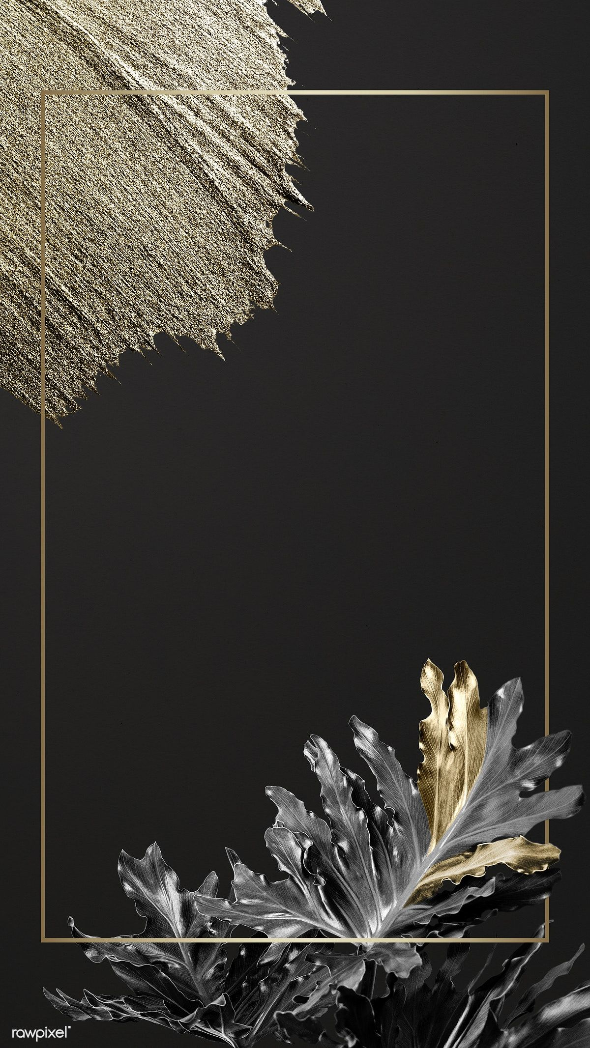 Rectangular golden frame on a nature background | premium image by rawpixel.com / Adj / HwangMangjoo