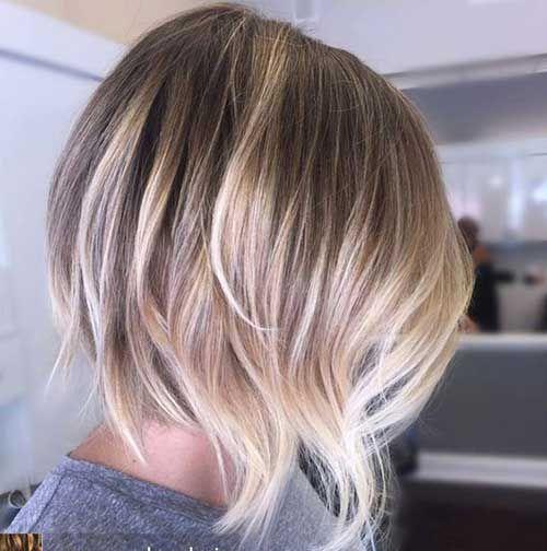 Ombre Farbe In Kurzen Haaren Ombre Farbtechnik Kurze Haare