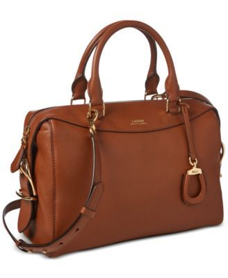Lauren Ralph Pebble Vanillagold Cornwall Leather Satchel WEYH92ID