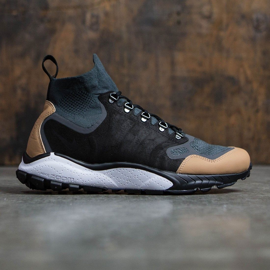 Nike Men Air Zoom Talaria Mid Flyknit Premium (anthracite / black-vachetta  tan-dark grey)