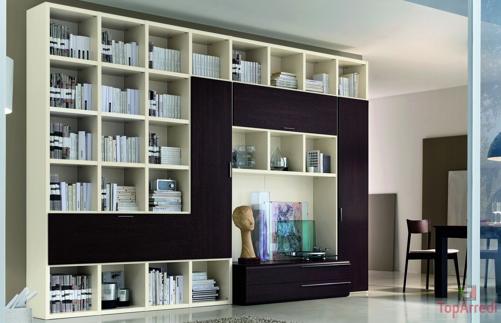 Beautiful Librerie Moderne Per Soggiorno Contemporary ...
