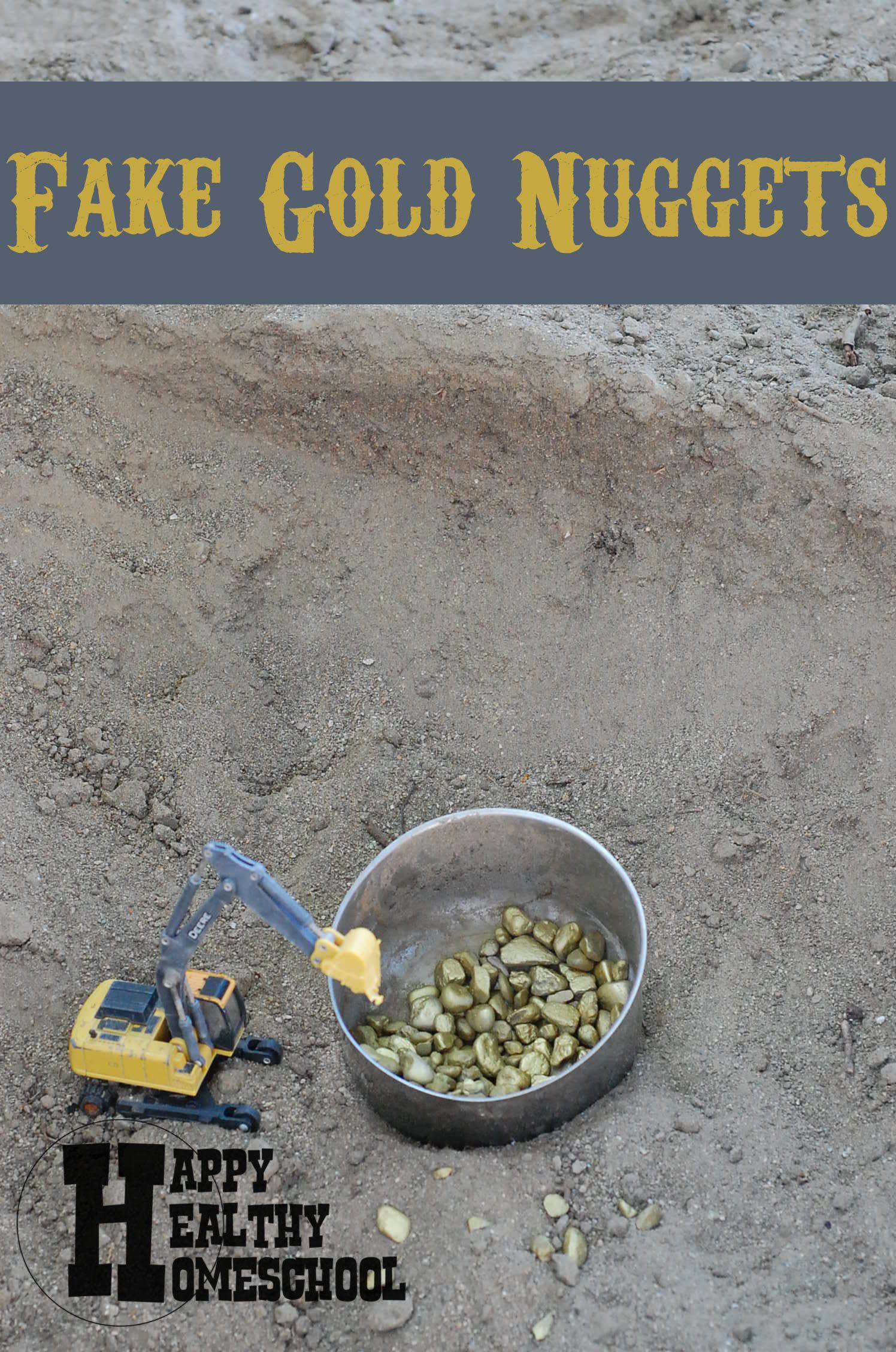 DIY Fake Gold Nuggets | Gold, Gold rush, Diy
