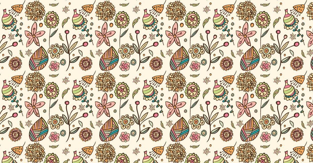 Pattern floral creado con Adobe Illustrator para una lección de Monstruos del Diseño.