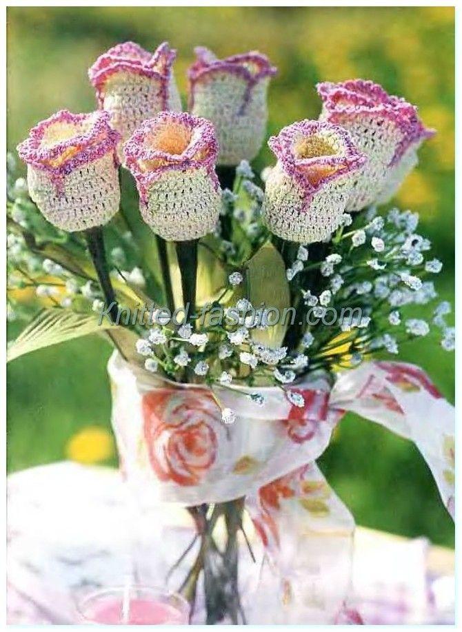 связать цветок крючком для начинающих,вязание крючком ...