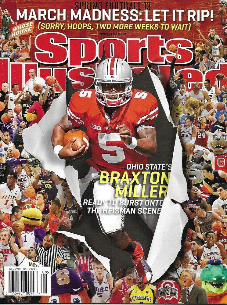 Sports Illustrated Magazine Braxton Miller Football March