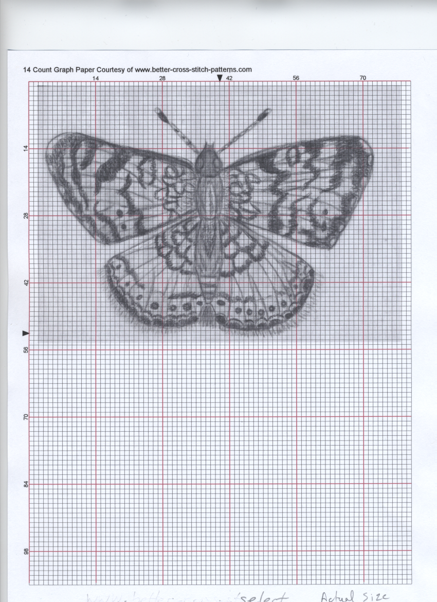 cross stitch your doodles scan your drawings into your computer resize and save under