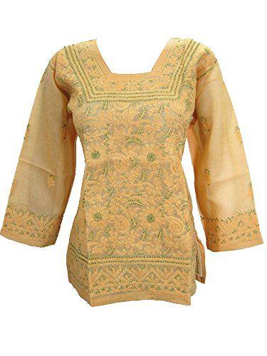Women's Blouse Floral Embroidered Yellow Boho Hippie Summer Top Kurta M Mogul Interior http://www.amazon.com/dp/B011KURCRM/ref=cm_sw_r_pi_dp_u0pPvb1MX9DCG