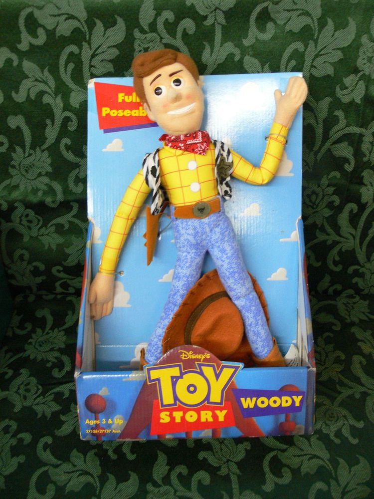 Disney Toy Story Woody Doll Plush Fully Poseable -NEW 1996