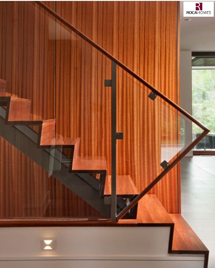 Stair Designs Railings Jam Stairs Amp Railing Designs: Angled Riser & Tread On Steel Stringer With Handrail On