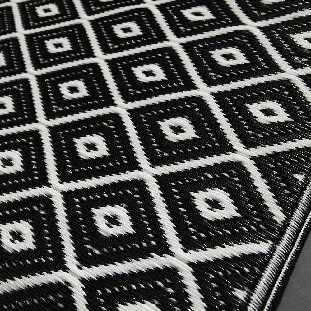 Tapis D Exterieur En Polypropylene Noir Blanc 120x180 Tapis Exterieur Tapis Noir Et Blanc Et Tapis Noir