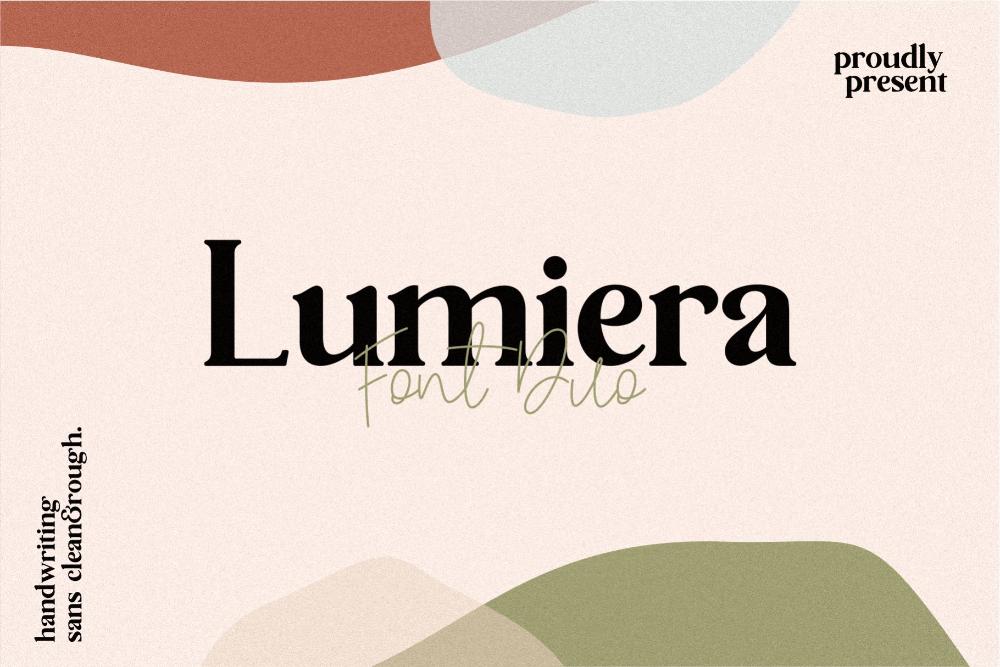 Lumiera Font Duo Discount 50 in 2020 Serif fonts, Sans