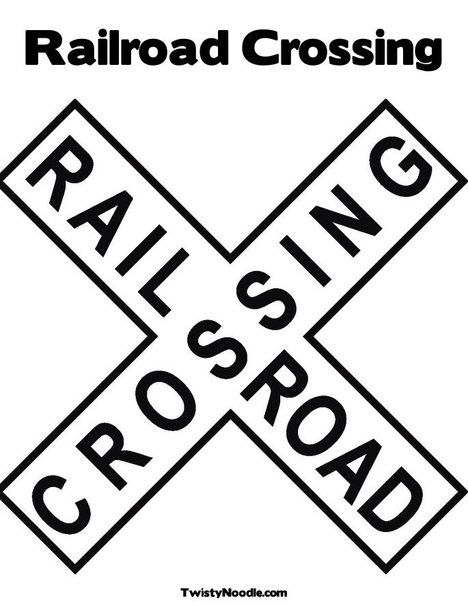 Railroad Crossing Coloring Page From Twistynoodle Com Birthday