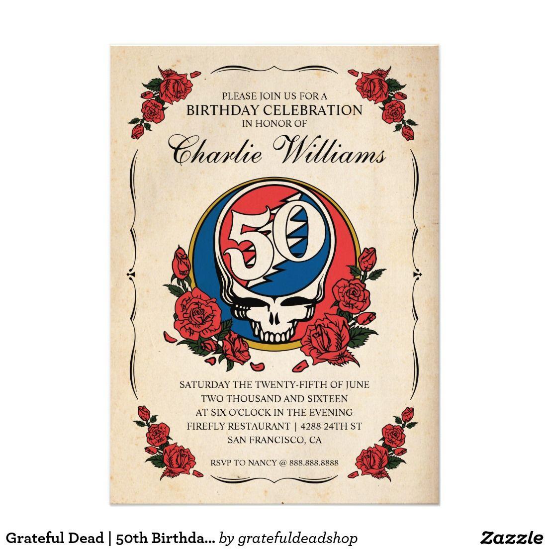Walking Dead Zombi Head Halloween Party Invitation | Grateful Dead ...